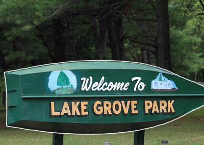 Lake Grove Park sign